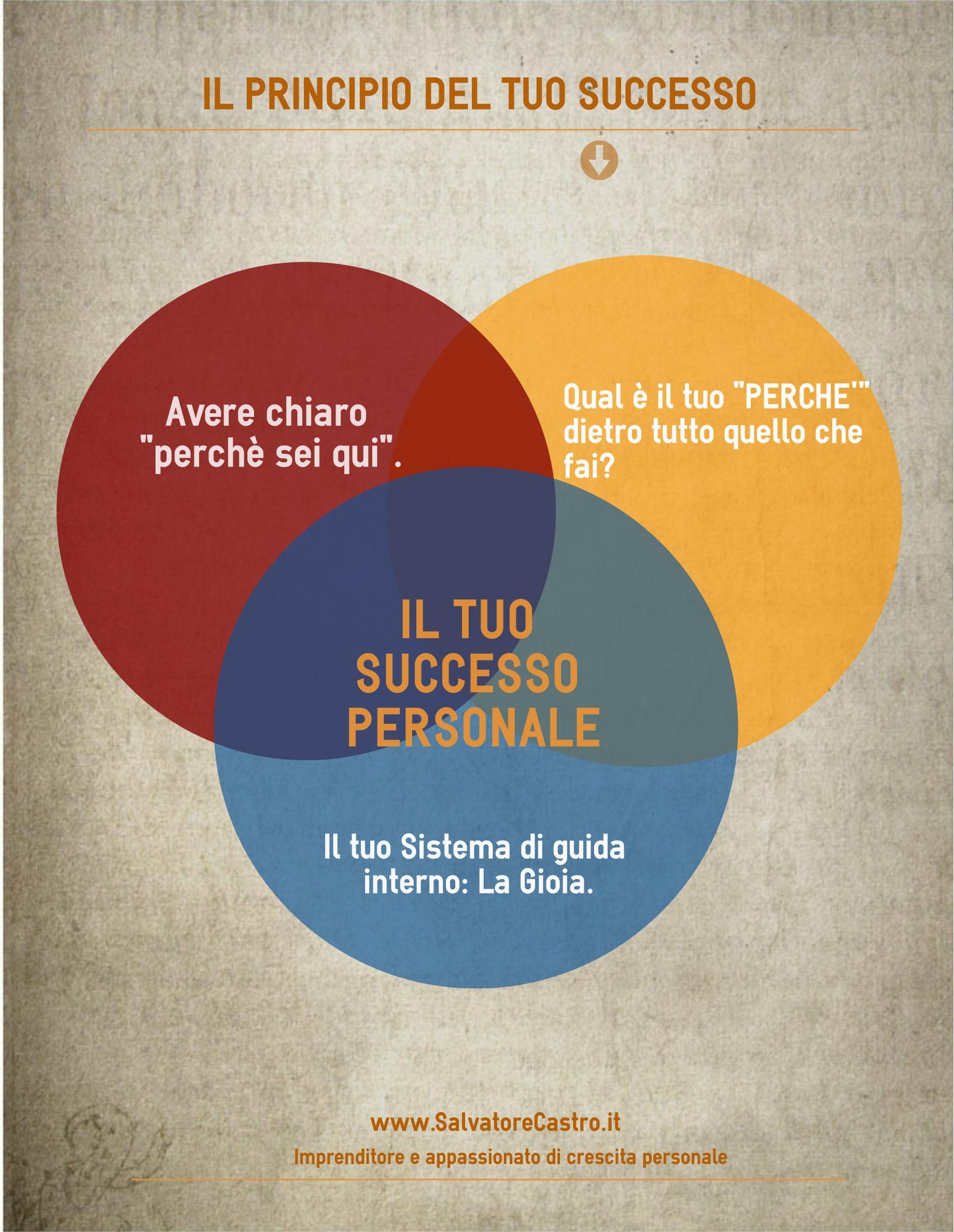 Il Principio del Tuo Successo(clicca la foto e scarica infografica + Mini Report)